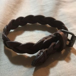 NWOT American Eagle Leather Braided Bracelet
